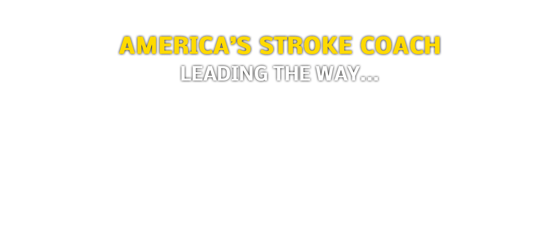 American's Stroke Coach banner Text